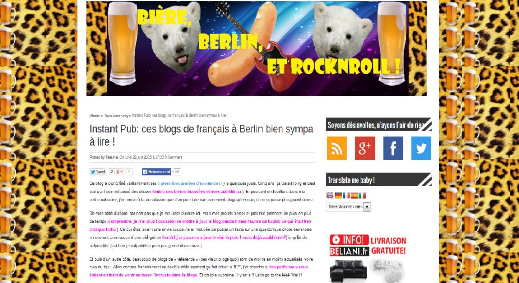 Berlin Bière et Rock'n roll