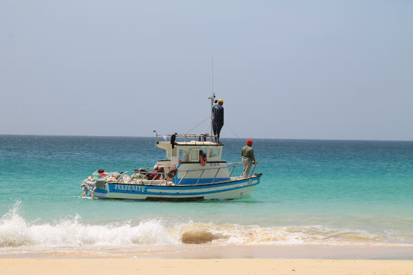 Cap Vert bateau de pêcher Boa Vista