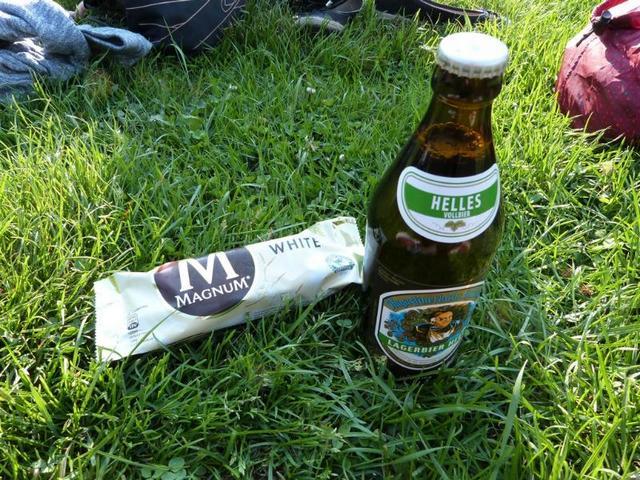 bière et magnum à Leipzig